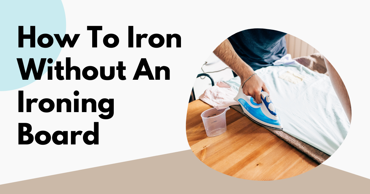 how to iron without an ironing board image