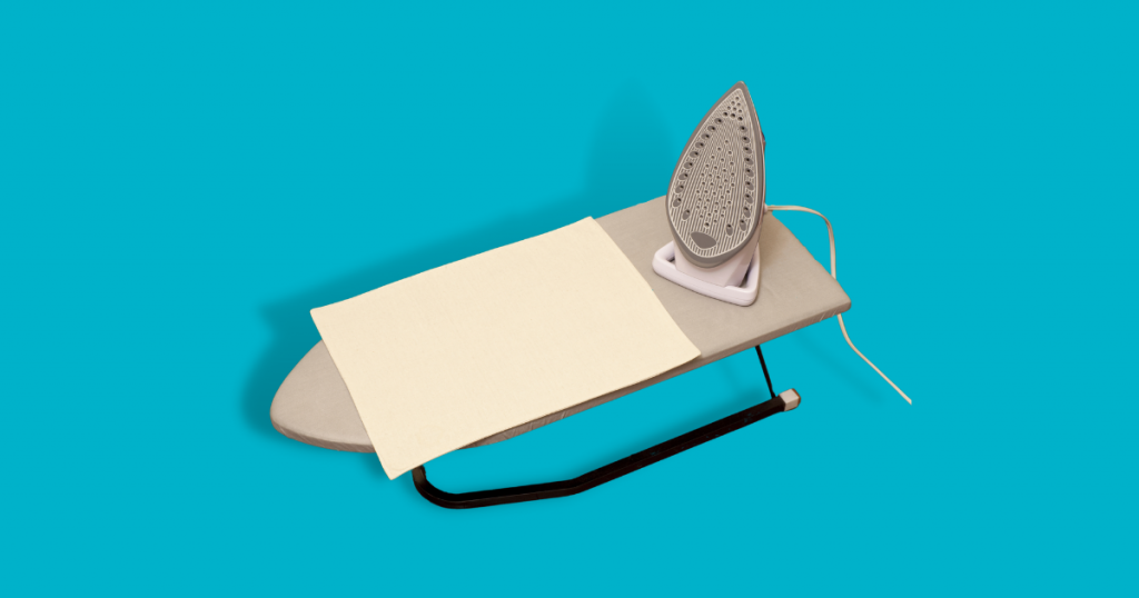 how to use a tabletop ironing board