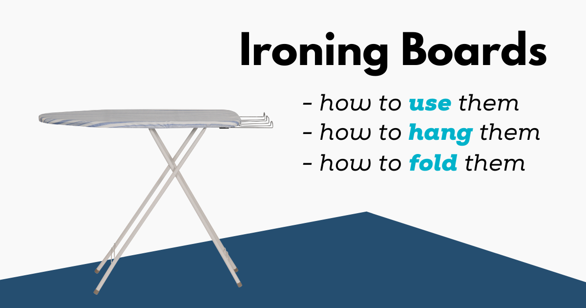 how to use an ironing board
