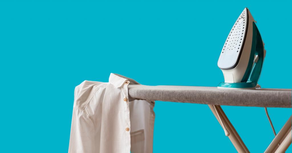 ironing with a beautiful ironing board padding
