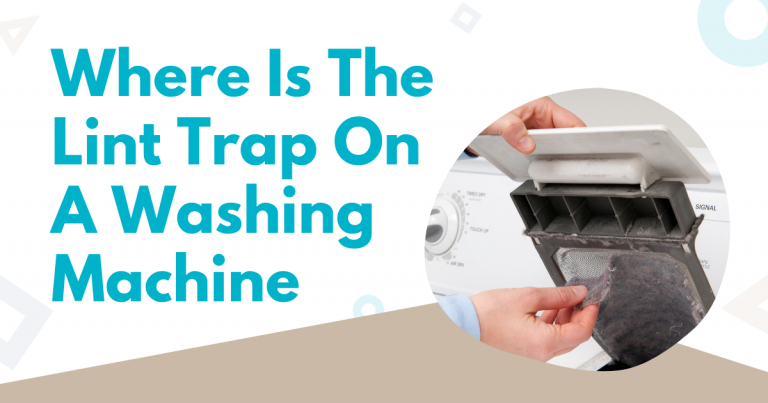 where is the lint trap on a washing machine image