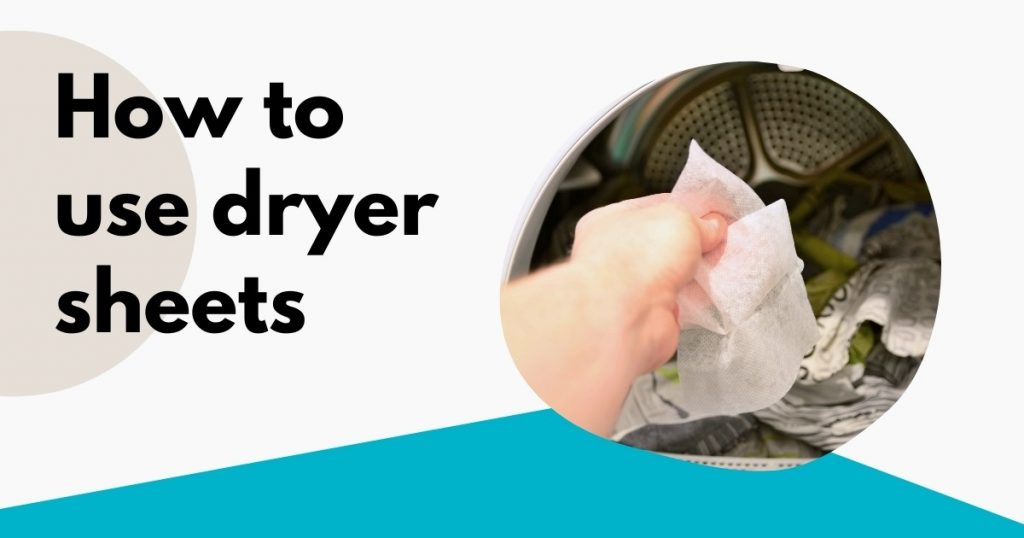 woman holding a dryer sheet