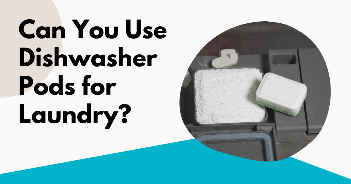 can you use dishwasher pods for laundry image