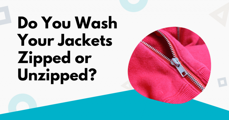 do you wash your jackets zipped or unzipped image