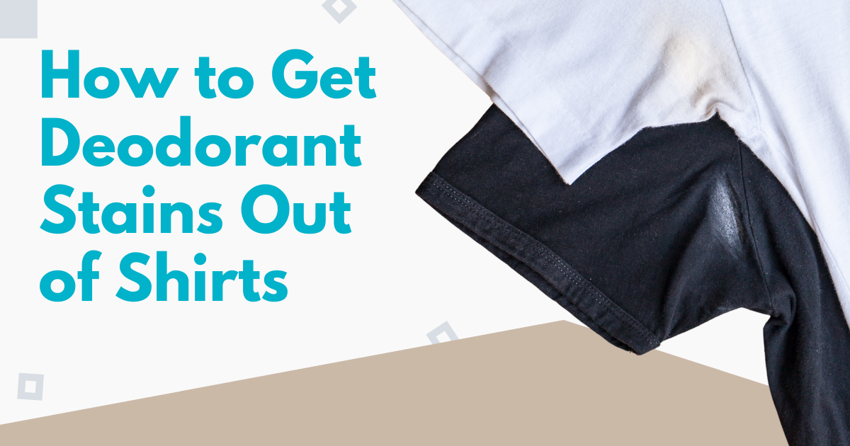 how to get deodorant stains out of shirts image