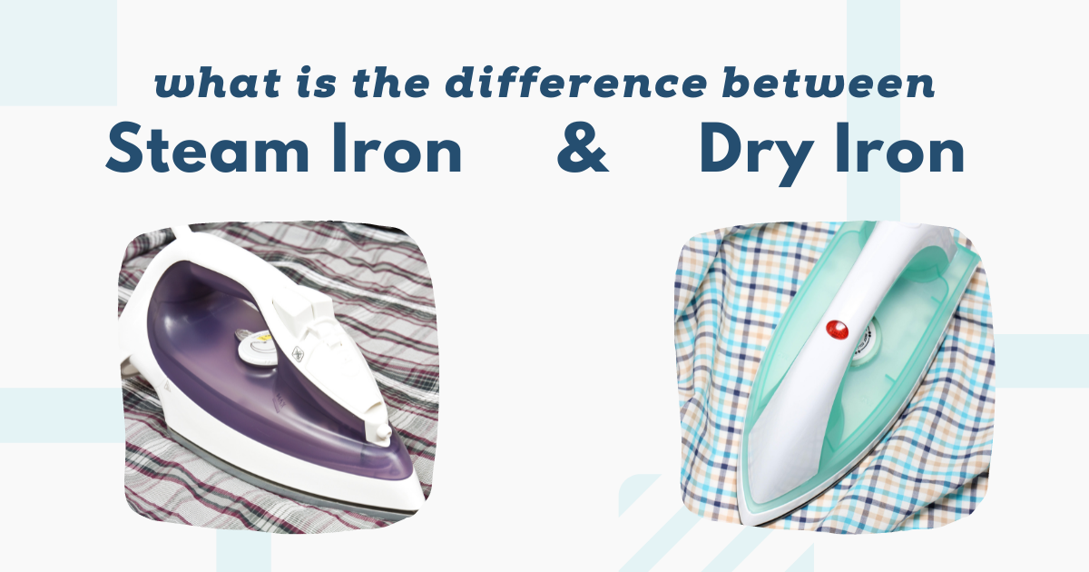 what is the difference between a steam iron and a dry iron image