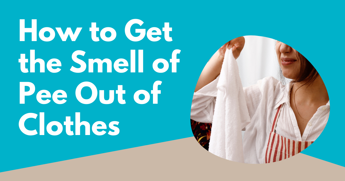 how to get the smell of pee out of clothes image