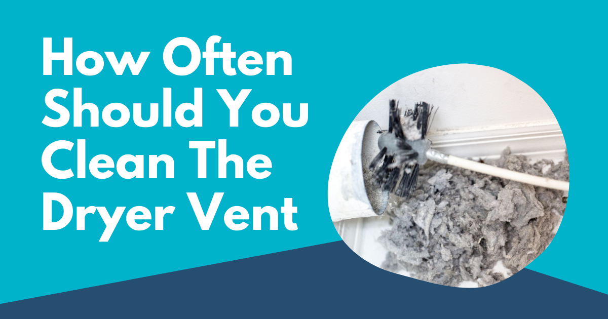 how often should you clean the dryer vent image