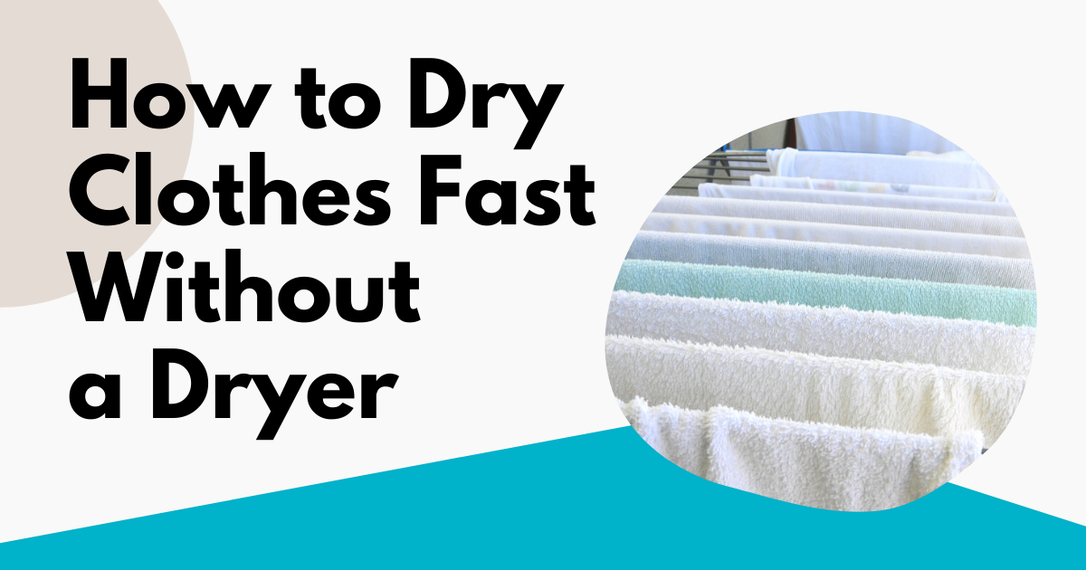 how to dry clothes fast without a dryer image